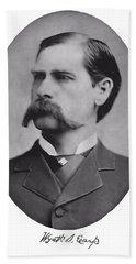 Wyatt Earp Autographed Beach Towel