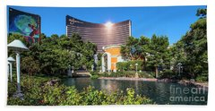 Wynn Casino In The Late Afternoon 2 To 1 Ratio Beach Towel by Aloha Art