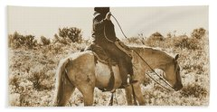 Wyoming Cowboy Beach Towel