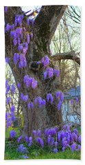 Wysteria Tree Beach Sheet
