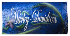 Harley Davidson 2 Beach Sheet by Wendy Wilton