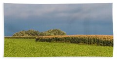 Beach Towel featuring the photograph Farmer's Field by Patti Deters