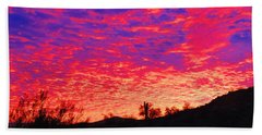 Y Cactus Sunset 1 Beach Towel