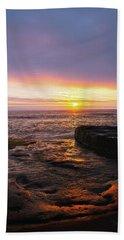 Yachats Sunset Beach Towel
