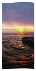 Yachats Sunset Beach Sheet by Tyra OBryant
