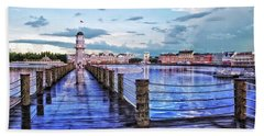 Yacht And Beach Club Lighthouse Mp Beach Towel