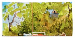 Yacht Weene' In Barnes Bay  Beach Towel