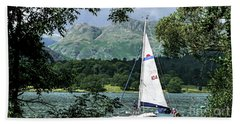 Yachting Lake Windermere Beach Towel