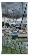 Yachts On Lake Windermere Beach Towel