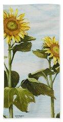 Yana's Sunflowers Beach Towel