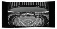 Yankee Stadium 2 - B And W Beach Towel