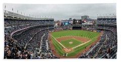 Yankee Stadium Behind The Plate  Beach Towel