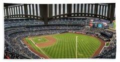 Yankee Stadium From Stands  Beach Towel