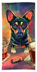 Yappy Hour Beach Towel by Sean ODaniels