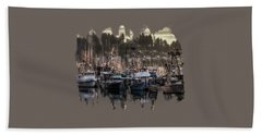 Beach Towel featuring the photograph Yaquina Bay Boat Basin At Dawn by Thom Zehrfeld