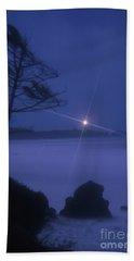 Yaquina Head At Night Beach Sheet