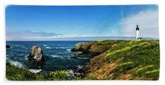 Yaquina Head Lighthouse Beach Towel