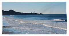 Yaquina Lighthouse And The Pacific Beach Towel
