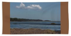 Yawkey Wildlife Reguge - View From The Causeway Beach Towel by Suzanne Gaff
