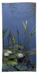 Yawkey Wildlife Reguge Water Lilies With Rare Plant Beach Sheet by Suzanne Gaff
