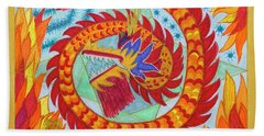 Year Of The Fire Monkey Beach Towel
