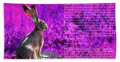 Year Of The Rabbit 2011 . Magenta Beach Towel
