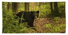 Yearling Black Bear Beach Towel