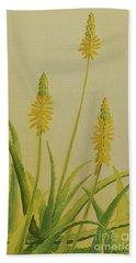 Yellow Aloe Beach Towel