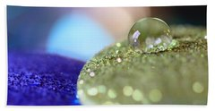 Beach Towel featuring the photograph Yellow And Blue Glitter by Angela Murdock
