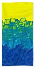 Yellow And Blue Beach Sheet
