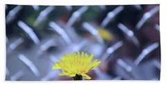 Yellow And Silver Beach Towel by John S