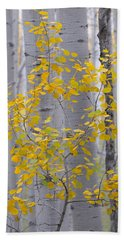 Yellow Aspen Tree Beach Sheet