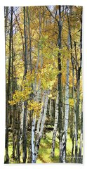 Yellow Aspens Beach Towel