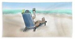 Yellow Bird Beach Selfie Beach Sheet