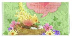 Yellow Bird's Love Song Beach Sheet