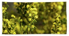 Yellow Blooms Beach Towel by Cassandra Buckley
