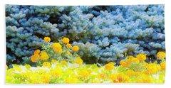 Yellow, Blue, Orange Beach Sheet