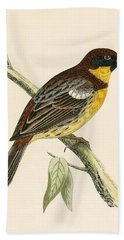 Yellow Breasted Bunting Beach Towel