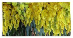 Yellow Buds Beach Towel