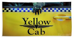 Yellow Cab Beach Towel