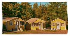 Yellow Cabins Beach Towel