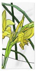Yellow Canna Lilies Beach Sheet by Jamie Downs