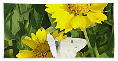 Yellow Cow Pen Daisies Beach Sheet
