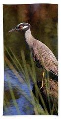 Yellow-crowned Night Heron Beach Towel