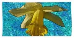 Yellow Daffodil 3 Beach Sheet
