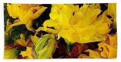 Yellow Daffodils 6 Beach Sheet