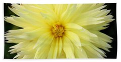 Yellow Dahlia Beach Towel