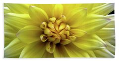 Yellow Dahlia Beach Sheet