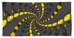 Yellow Daisy Spin Wheel  Beach Towel
