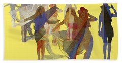 Yellow Dance Beach Towel